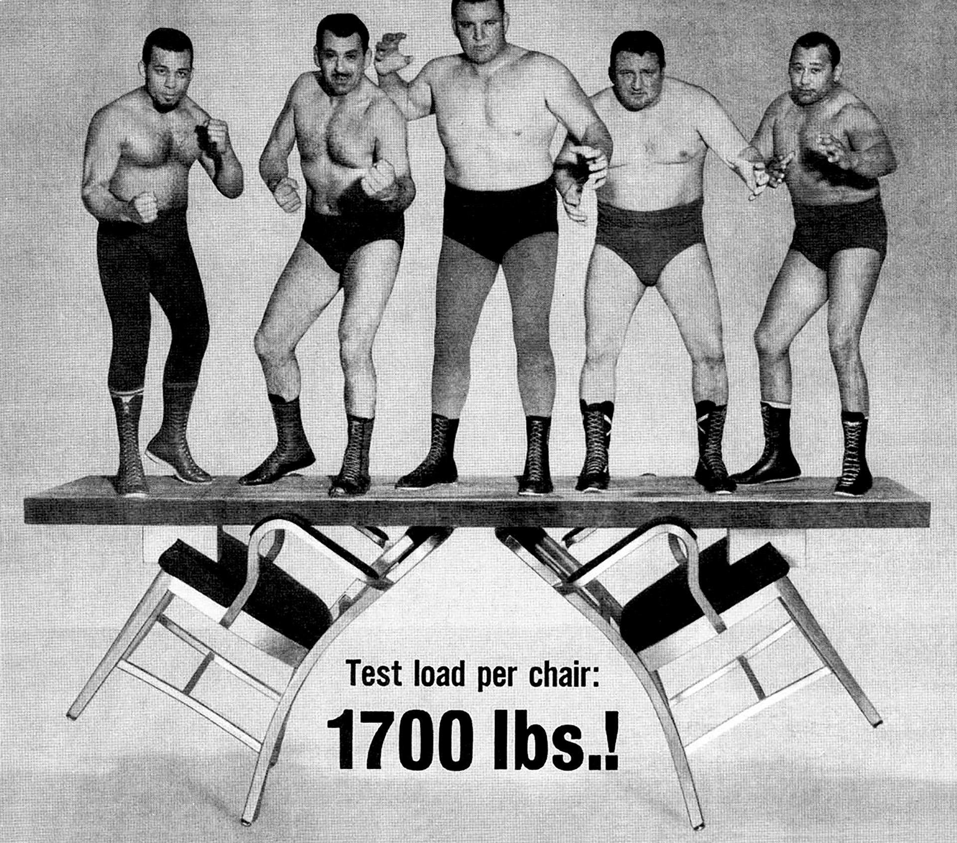 Reklama na židli Emeco Navy Chair z roku 1950. © Emeco