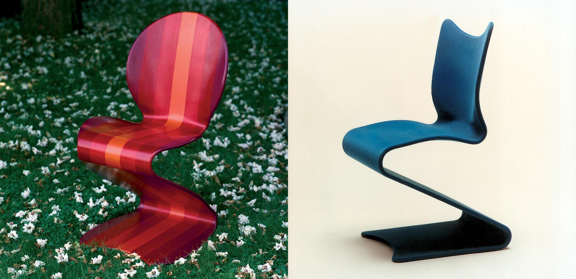 Židle S Chair: Model 275 a Model 276. © Panton Design