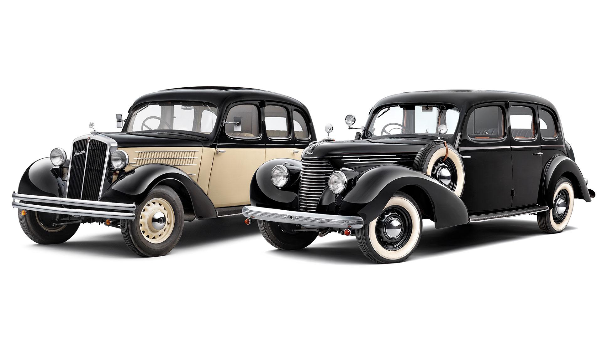 Škoda Superb 640 z roku 1935 a Škoda Superb 3000 OHV z roku 1939. © Škoda Auto